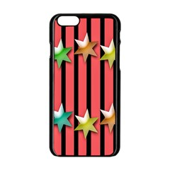 Star Christmas Greeting Apple Iphone 6/6s Black Enamel Case