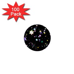 Star Ball About Pile Christmas 1  Mini Buttons (100 pack)