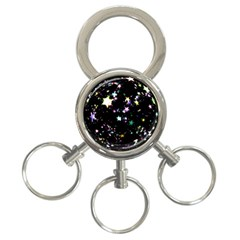 Star Ball About Pile Christmas 3 Ring Key Chains by Nexatart