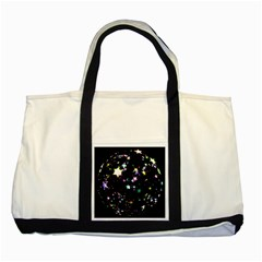 Star Ball About Pile Christmas Two Tone Tote Bag