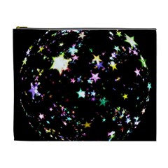 Star Ball About Pile Christmas Cosmetic Bag (xl) by Nexatart