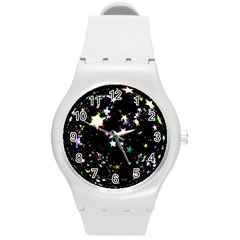 Star Ball About Pile Christmas Round Plastic Sport Watch (m)