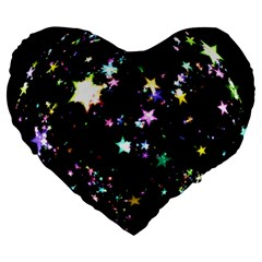 Star Ball About Pile Christmas Large 19  Premium Heart Shape Cushions by Nexatart