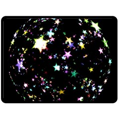 Star Ball About Pile Christmas Double Sided Fleece Blanket (large)