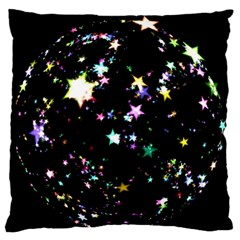 Star Ball About Pile Christmas Large Flano Cushion Case (one Side)