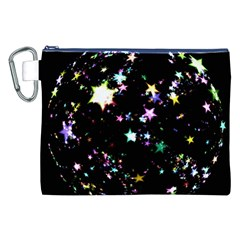 Star Ball About Pile Christmas Canvas Cosmetic Bag (xxl) by Nexatart