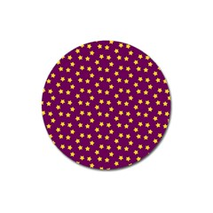 Star Christmas Red Yellow Magnet 3  (round) by Nexatart