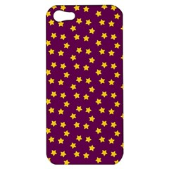 Star Christmas Red Yellow Apple Iphone 5 Hardshell Case by Nexatart