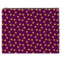 Star Christmas Red Yellow Cosmetic Bag (xxxl)  by Nexatart