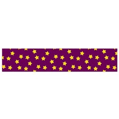 Star Christmas Red Yellow Flano Scarf (small)