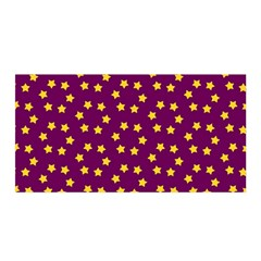 Star Christmas Red Yellow Satin Wrap by Nexatart