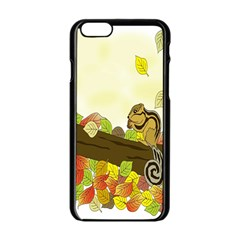 Squirrel Apple Iphone 6/6s Black Enamel Case
