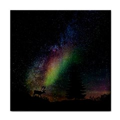 Starry Sky Galaxy Star Milky Way Tile Coasters by Nexatart