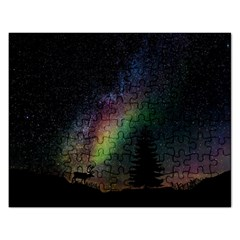 Starry Sky Galaxy Star Milky Way Rectangular Jigsaw Puzzl by Nexatart