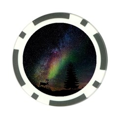 Starry Sky Galaxy Star Milky Way Poker Chip Card Guard by Nexatart