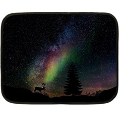 Starry Sky Galaxy Star Milky Way Fleece Blanket (mini) by Nexatart