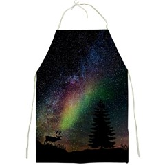 Starry Sky Galaxy Star Milky Way Full Print Aprons by Nexatart