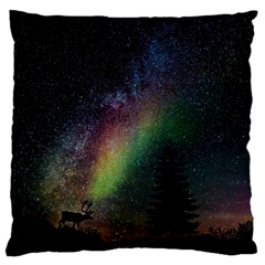 Starry Sky Galaxy Star Milky Way Large Cushion Case (one Side)