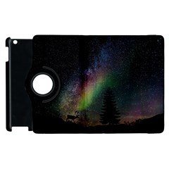 Starry Sky Galaxy Star Milky Way Apple Ipad 3/4 Flip 360 Case