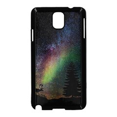 Starry Sky Galaxy Star Milky Way Samsung Galaxy Note 3 Neo Hardshell Case (black) by Nexatart