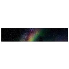 Starry Sky Galaxy Star Milky Way Flano Scarf (small)