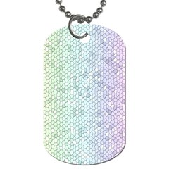 The Background Wallpaper Mosaic Dog Tag (two Sides) by Nexatart