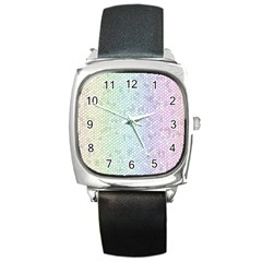 The Background Wallpaper Mosaic Square Metal Watch