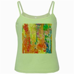 Watercolour Watercolor Paint Ink  Green Spaghetti Tank by Nexatart