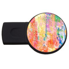 Watercolour Watercolor Paint Ink  Usb Flash Drive Round (2 Gb)