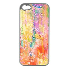 Watercolour Watercolor Paint Ink  Apple Iphone 5 Case (silver) by Nexatart