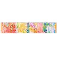 Watercolour Watercolor Paint Ink  Flano Scarf (large)