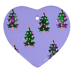 Watercolour Paint Dripping Ink  Ornament (heart)