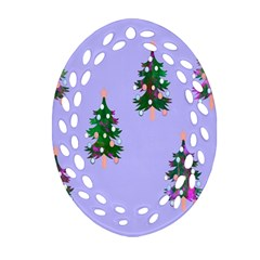 Watercolour Paint Dripping Ink  Oval Filigree Ornament (two Sides)