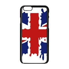 Uk Splat Flag Apple Iphone 6/6s Black Enamel Case