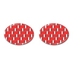 Weave And Knit Pattern Seamless Background Wallpaper Cufflinks (oval)