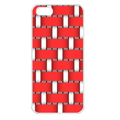 Weave And Knit Pattern Seamless Background Wallpaper Apple Iphone 5 Seamless Case (white)