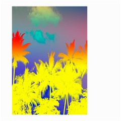 Tropical Cool Coconut Tree Small Garden Flag (two Sides) by Jojostore
