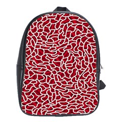 Tangled Thread Red White School Bags(large)  by Jojostore