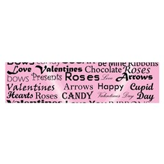 Valentine Love Heart Roses Sweet Pink Satin Scarf (oblong) by Jojostore