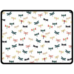 Dragonflies Animals Fly Double Sided Fleece Blanket (large)  by Jojostore