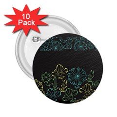 Elegant Floral Flower Rose Sunflower 2 25  Buttons (10 Pack)  by Jojostore
