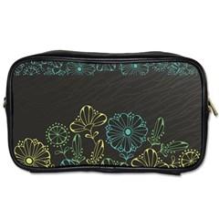 Elegant Floral Flower Rose Sunflower Toiletries Bags by Jojostore