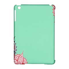 Flower Floral Green Apple Ipad Mini Hardshell Case (compatible With Smart Cover) by Jojostore