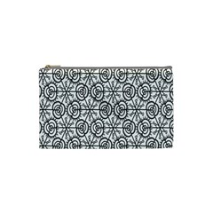 Flower Rose Black Triangle Cosmetic Bag (Small)