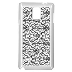 Flower Rose Black Triangle Samsung Galaxy Note 4 Case (white) by Jojostore
