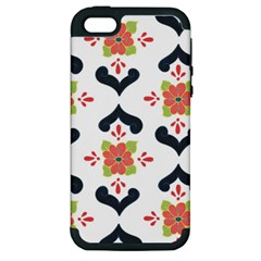 Flower Rose Floral Purple Pink Green Leaf Apple Iphone 5 Hardshell Case (pc+silicone) by Jojostore