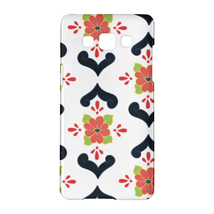 Flower Rose Floral Purple Pink Green Leaf Samsung Galaxy A5 Hardshell Case