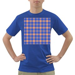Fabric Colour Blue Orange Dark T Shirt by Jojostore