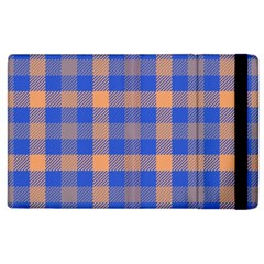 Fabric Colour Blue Orange Apple Ipad 2 Flip Case by Jojostore