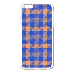 Fabric Colour Blue Orange Apple Iphone 6 Plus/6s Plus Enamel White Case by Jojostore